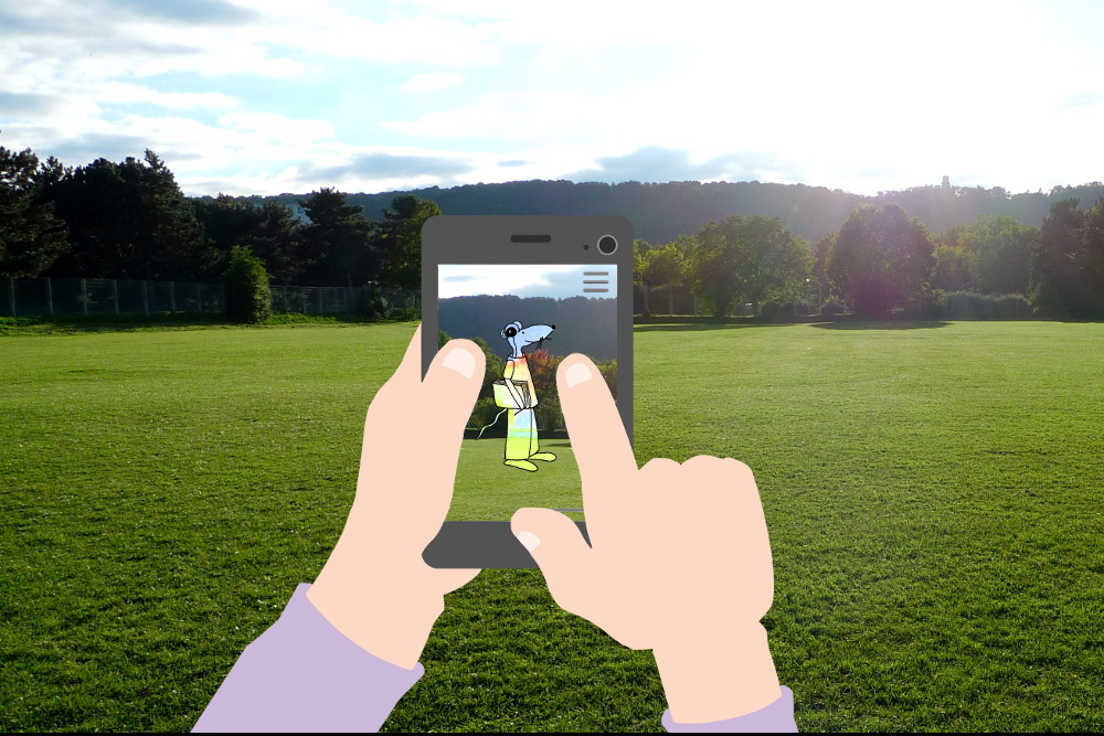 Leseratte in augmented reality in Dottendorf
